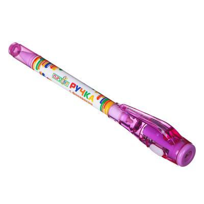 """622-003 ClipStudio Ручка шариковая с невидимыми чернилами и фонариком """"Шпаргалка"""", 4цв, пластик, на блистере"""