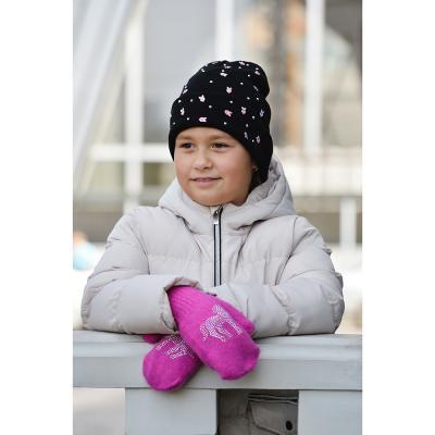 363-145 Варежки детские, 5-7 лет, 10% ангора, 90% акрил, 3 цвета