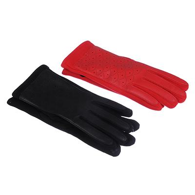 363-176 Перчатки женские контактные, р-р свободный, полиэстер, ПУ, хлопок, 2 цвета, ПВ188-38