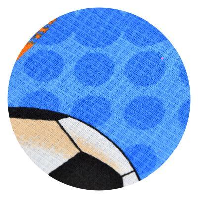 """484-877 Полотенце банное вафельное, хлопок, 80х150см, синее, """"Футбол"""""""