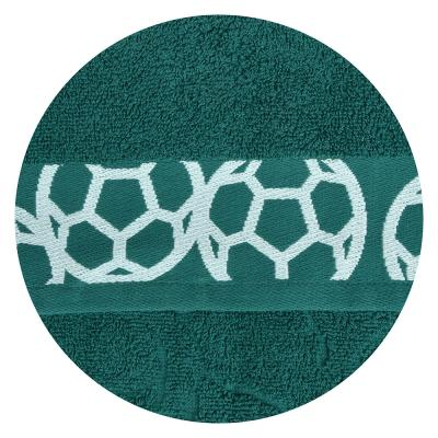 "489-152 Полотенце махровое, 100% хлопок, 50х90см, 450гр/м, ""Футбол"", 4 дизайна"