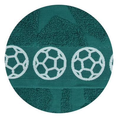 "484-878 Полотенце махровое, 100% хлопок, 70х130см, 450гр/м, ""Футбол"", 4 дизайна"