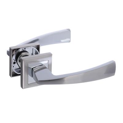 615-066 Ручки дверные раздельные А1312 CP/SN хром/матовый хром (ЦАМ/Алюминий)
