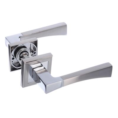615-068 Ручки дверные раздельные А1313 CP/SN хром/матовый хром (ЦАМ/Алюминий)