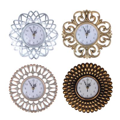 581-717 Часы настенные, пластик, 25см, золото, 1хАА