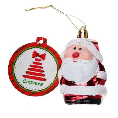 376-621 СНОУ БУМ Сказка Подвеска в виде Деда Мороза 10см, пластик