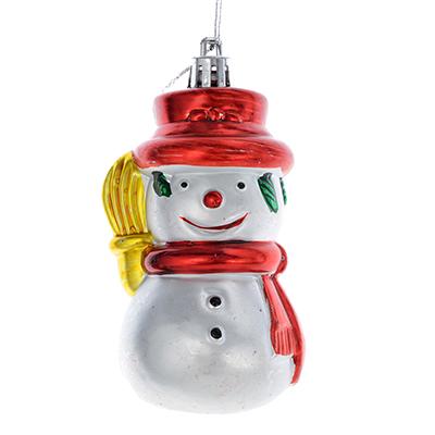 376-623 СНОУ БУМ Сказка Подвеска 10см, пластик, в виде снеговичка
