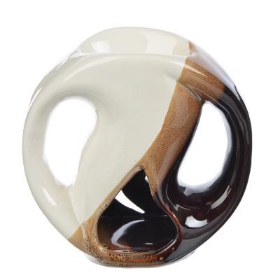 536-298 Аромалампа керамическая, Инь-ян, керамика, 11,5x11x5,5 см