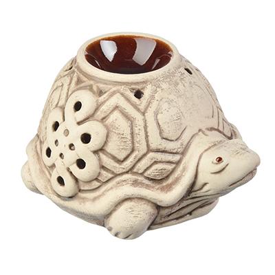 536-304 Аромалампа керамическая, Черепаха, керамика, 8x9,5x14 см