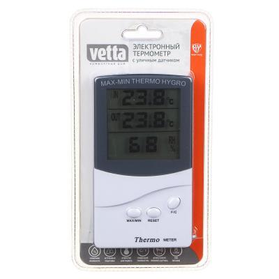 473-049 INBLOOM Термометр электронный, выносной датчик температуры, влажность,12.5x7см, пластик,1xAAA