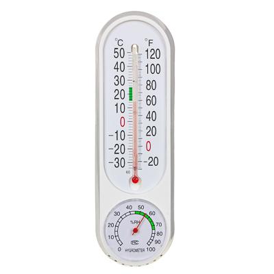 473-053 INBLOOM Термометр вертикальный, измерение влажности воздуха, 23x7см, пластик, блистер