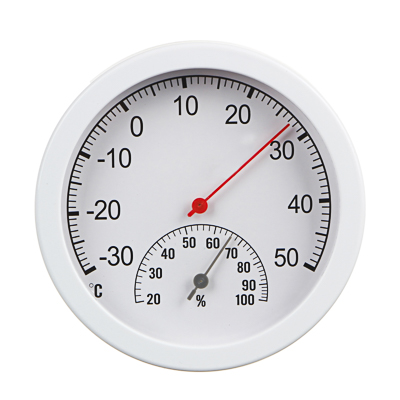 473-054 INBLOOM Термометр круглый, измерение влажности воздуха, блистер, 12,5см, пластик, металл