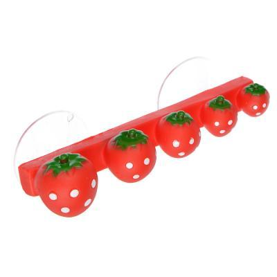 463-895 Держатель для зубных щеток на присосках в виде ягод, 13х3х3,5см ПВХ, 2 цвета