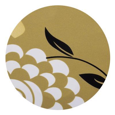 461-498 VETTA Шторка для ванной, ЕВА, 180х180см, 438 гр, золотые и серебряные цветы, 2 дизайна