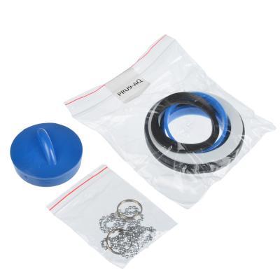 571-137 Aquant Сифон для ванны регулируемый с выпуском и переливом, с гибкой трубой 40х40/50см, V255