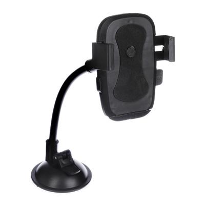 470-019 FORZA Держатель телефона на стекло, гибкая штанга, 23см, пластик