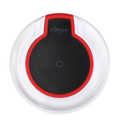 916-152 Зарядное устройство FORZA Беспроводное, D10см, вход Micro USB, прозрачный пластик