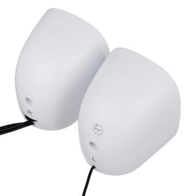 443-001 FORZA USB аудио-колонки, 2 шт, квадратные, 7x7см, провод 65см, 3.5мм Jack