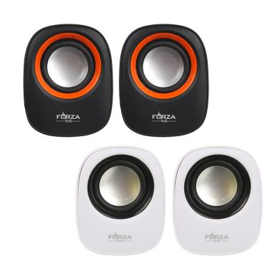 443-001 Аудиоколонки USB FORZA 2 шт, квадратные, 7x7см, провод 65см, 3.5мм Jack