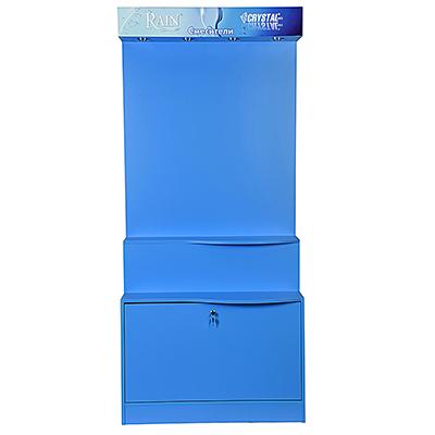 R05-002 Стенд для смесителей, сантехника, светло-синий (дизайн 2018 г.)