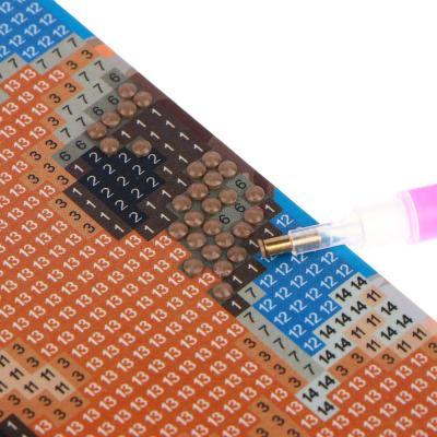 281-155 ХОББИХИТ Картина из страз, комплект (стразы, палочка, основа), 20х15см, 10 дизайнов