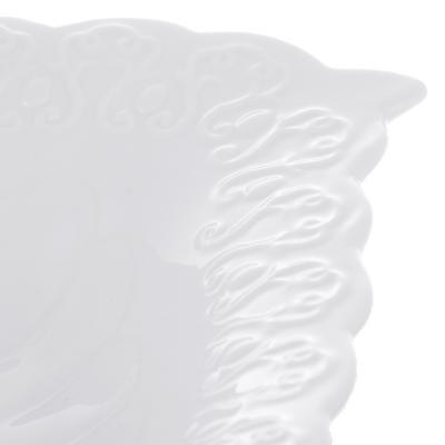 """821-732 Ваза для фруктов, фарфор, 30,5х20,5х5 см, рельеф, MILLIMI """"Жемчуг"""""""