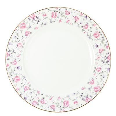 "821-739 Тарелка десертная, костяной фарфор, 20 см, MILLIMI ""Пастораль"""