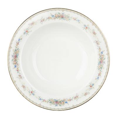 "821-762 Тарелка суповая, костяной фарфор, 21,5х4,5 см, MILLIMI ""Версаль"""