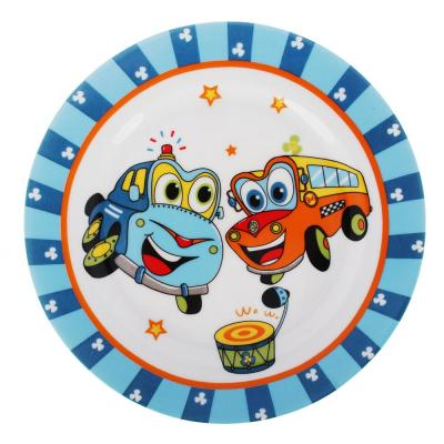 829-165 Набор детской посуды: тарелка 18 см, суповая тарелка 12,5х5,5 см, кружка 215 мл, костяной фарфор MIL