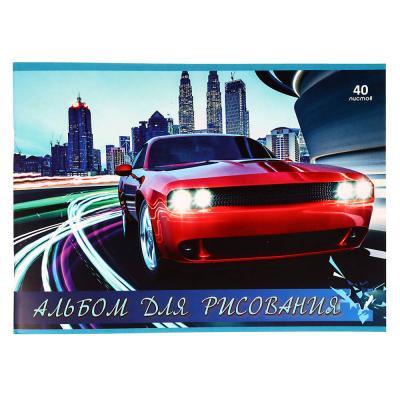 515-015 Альбом для рисования 40 листов, А4, 100г/м2,  4 дизайна ClipStudio