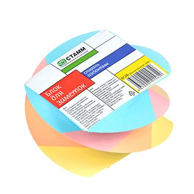 522-002 Блок для заметок СТАММ БС06 6x5x4 см, цветной витой