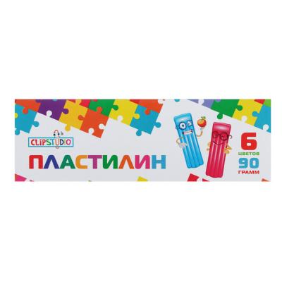 239-012 Пластилин ClipStudio 6 цветов 90 грамм