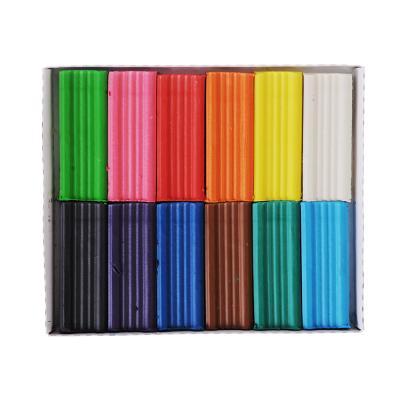 239-018 Пластилин, 12 цветов, 240 гр, восковая основа, ДЖИНС
