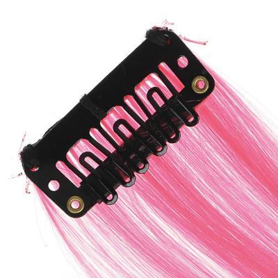 323-240 Цветные пряди волос на гребне, длина 35-40 см, ПВХ, 6 цветов
