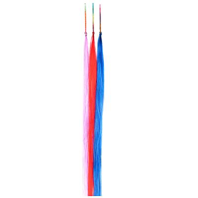 323-241 Цветные пряди волос на невидимках, длина 25-28 см, ПВХ, 3 цвета