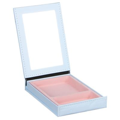 347-069 Зеркало-шкатулка, 15х21,5 см, стекло, бумага, 4 дизайна