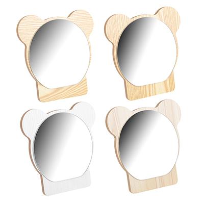 347-073 Зеркало настольное, 18х17 см, стекло, ДВП, 4 цвета