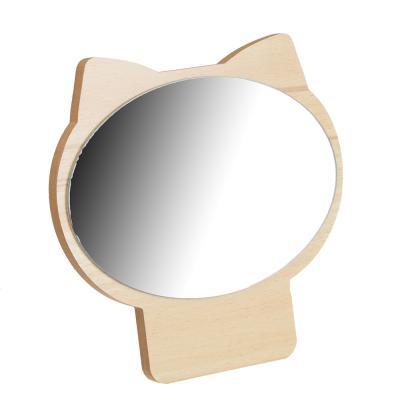 347-074 Зеркало настольное, 17,3х17 см, стекло, ДВП, 4 цвета