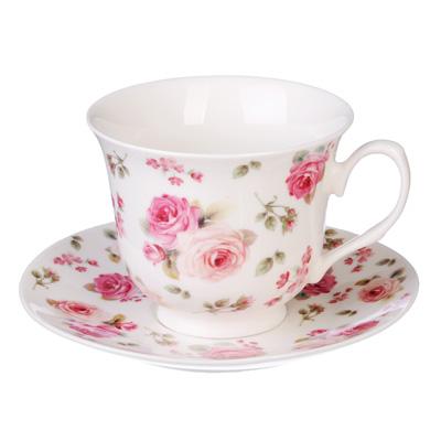 821-782 MILLIMI Роза Набор чайный 2 пр., 250мл, костяной фарфор