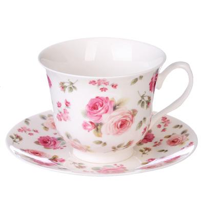 """821-784 Чайный сервиз 12 предметов, костяной фарфор, 250 мл, MILLIMI """"Роза"""""""