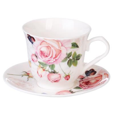 821-790 MILLIMI Чайная роза Набор кофейный 4 пр., 110мл, костяной фарфор