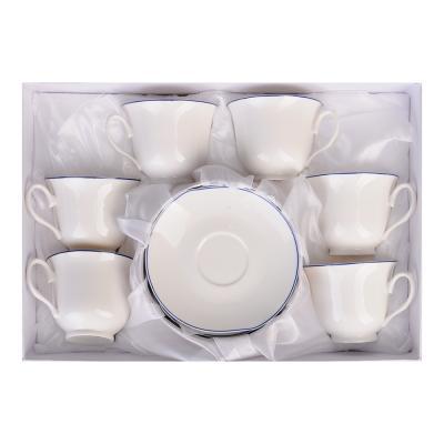 """821-799 Чайный сервиз 12 предметов, костяной фарфор, 250 мл, MILLIMI """"Марина"""""""