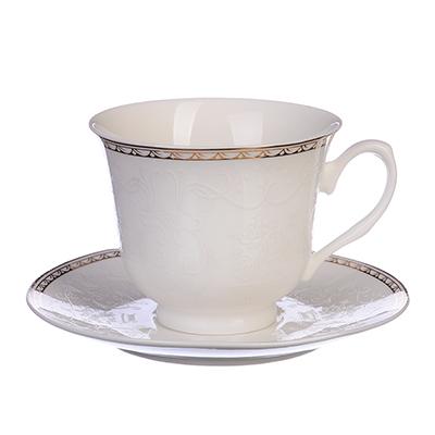 """821-809 Чайный сервиз 12 предметов, костяной фарфор, 250 мл, MILLIMI """"Анжелика"""""""