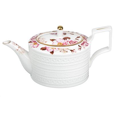 """821-856 Заварочный чайник, костяной фарфор, 1200 мл, MILLIMI """"Роскошь"""""""