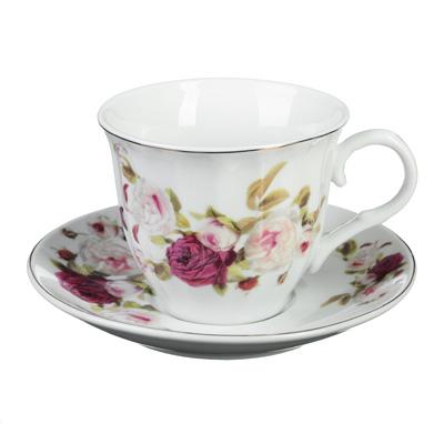 "821-887 Чайный сервиз 2 предмета, фарфор, 220 мл, ""Ретро"""