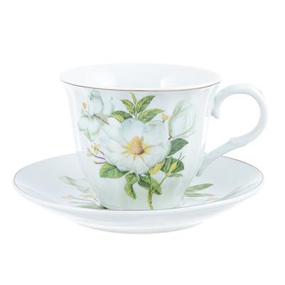 821-892 Белая роза Набор чайный 2 пр., 220мл, фарфор