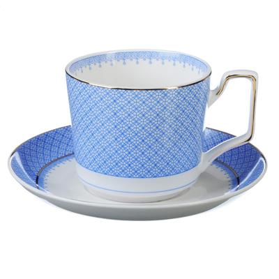 """821-929 Чайный сервиз 2 предмета, костяной фарфор, 260 мл, 2 цвета, MILLIMI """"Мария"""""""