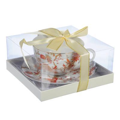 """821-948 Чайный сервиз 2 предмета, тонкий фарфор, 330 мл, MILLIMI """"Волшебные цветы"""""""
