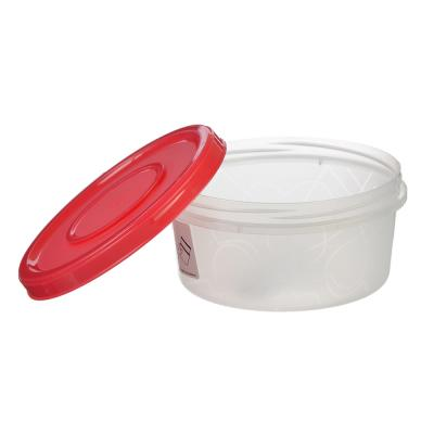 861-198 Банка для хранения продуктов с завинчивающейся крышкой 0,4 л, 3 цвета, пластик