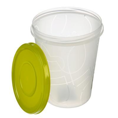 861-200 Банка для хранения продуктов пластиковая, с завинчивающейся крышкой 1,0л, 3 цвета, арт. GR1889